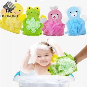 1PC Cute Children Adult Shower Bathing Bath Towel 5Colors Animal Shower Gloves Exfoliating Wash Skin Spa Foam Massage Bath Glove