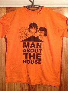 Hombre sobre la camiseta de la casa (Sit-Com de televisión británica) Camiseta de cuello redondo de Richard O'Sullivan Camisetas de tirantes de Harajuku Verano 2018 100% algodón
