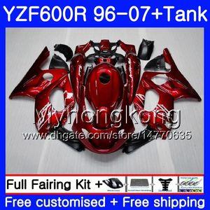 Body + Tank for YAMAHA Thundercat YZF600R 96 97 98 99 00 01 229HM.0 YZF-600R YZF 600R 1996 1997 1998 1998 1999 2001 Fairing Gloss Factory red