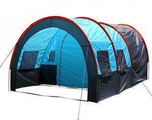 5-10 personas gran tienda de túnel de capa de doule acampar al aire libre fiesta familiar senderismo pesca turística tienda de campaña casa