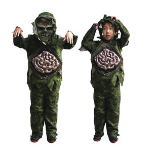 Niños Kid Boy Cosplay de Halloween Scary Zombie Ghost Intestinos grandes Traje Horror Swamp Party Props Etapa trajes ropa