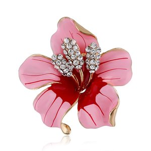 Fashion alloy trend brooch diamond drill party multicolor lily brooch unisex brooch