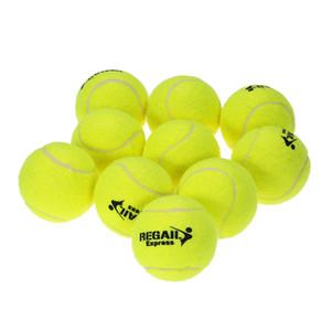 10 adet / torba Çocuk Çocuklar için Dayanıklı Kauçuk Eğitim Tenis Topları Tenis Yüksek Esneklik Eğitim Egzersiz Uygulama Topu