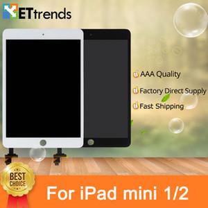 Pantalla táctil completa Digitalizador completo para iPad Mini / Mini 2 Panel táctil con partes IC con botón de inicio Envío libre de DHL