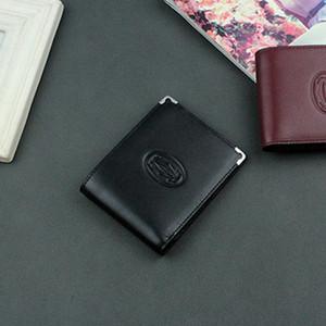 Portafoglio di design business portafogli in vera pelle di marca uomo, portafoglio compatto lussuoso per carte di credito con scatola