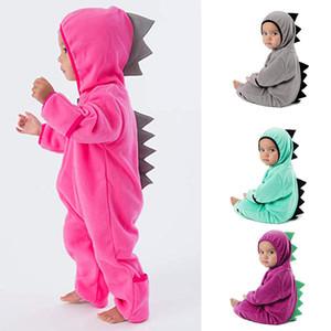 INS bebé modelado de dinosaurio mameluco infantil de manga larga con capucha monos de dibujos animados de moda Boutique niños escalada ropa C5587