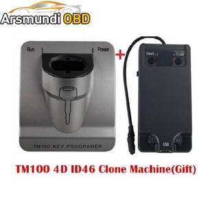 Nueva Versión V3.48 TM100 Transponder Key Programmer + ID46 Cloner Key Program, Máquina de programación de automóviles TM 100 KEY COPY TOOL