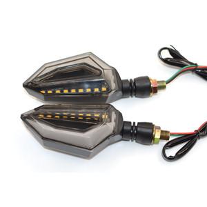 Para TRIUMRH DAYTONA 955i 675 VELOCIDAD TRIPLE 1050 Super Brillante Motocicleta 14 LED Luces de intermitentes Indicador Luz ámbar intermitente Para SUZUKI GSXR 600