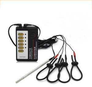 Électrique Shock Sex Toy Kits Electro Choc Penis Anneau Cock Ring Électrique Stimulateur Urétral Cathéter Sons Penis Plug Sex Toys Pour Hommes