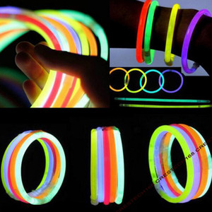 Glow New and hot glow sticks Stick Bracelet Necklaces Neon Party LED Flashing Light Stick Wand Novelty