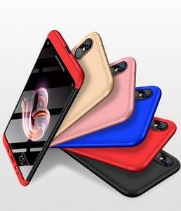 Для Xiaomi 8 Lite Mix3 Pocophone F1 Redmi S2 5A 5 5 Plus Жесткий чехол 3 в 1 Матовый доспех Гибридный Защитный чехол задняя крышка Сумки с полной крышкой