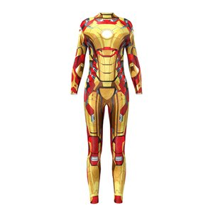 ONSEME Comic Superhero Iron Man Cosplay Fitness Jumpsuit Women Hipster 3D One Piece Tracksuit Workout Rompers Bodysuit Female