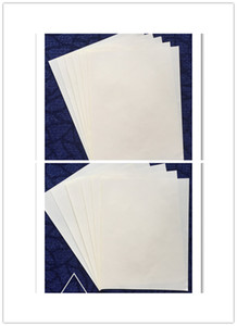 50 sheets paper cotton linen starch free with red and blue fiber white color
