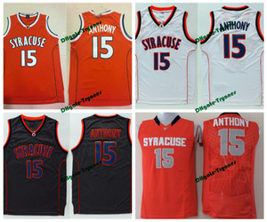 Mens Syracuse Orange Camerlo Anthony Escuela de Baloncesto jerseys Camerlo Anthony # 15 camisas de la Universidad barato cosido Jersey Baloncesto
