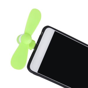 Atacado micro usb usb mini fan phone acessório para iphone android smartphone cor aleatória frete grátis