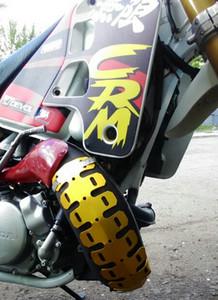 Evrensel Motosiklet Egzoz Susturucu Boru Bacak Koruyucu Isı Shield Kapak Için Honda CRM250 CRM250AR KDX200 KDX250