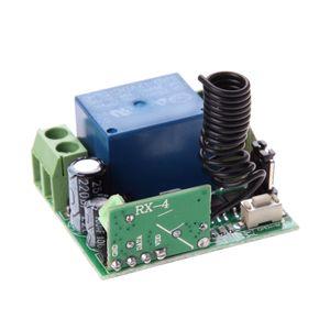 ALLOYSEED Universal Sem Fio DC 12 V 10A 433 MHz Interruptor de Controle Remoto Transmissor com Receptor de Controle Remoto Sem Fio
