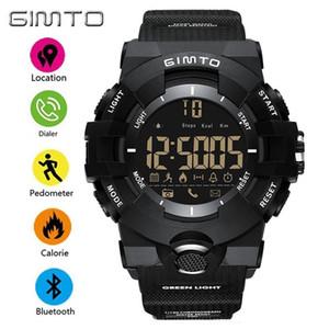 X GIMTO Negro Verde Deporte Reloj Inteligente Hombres Bluetooth Cronómetro Militar Digital Masculino Relojes de Choque de Silicona Impermeable Reloj Hombre