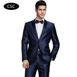 2017 Erkekler Damat Düğün Takım Elbise Ceket Ceket Erkekler Slim fit resmi Takım Elbise Blazer Moda Elbise Lüks Smokin Blazers
