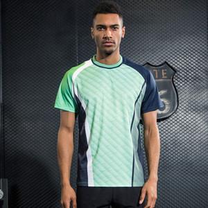 Camisetas de los hombres Camisa de tenis Hombres Bádminton de secado rápido Tops Camisa deportiva deportiva transpirable Ropa de tenis de mesa