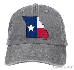 pzx @ Berretto da baseball per uomo donna, Missouri Outline Texas Flag unisex regolabile in cotone jeans Cap Hat multicolore opzionale