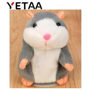 YETAA Parlant Hamster Doux Animaux Jouets pour Enfants En Peluche Animaux En Peluche Sweetie Jouets Parlant Parler Record Son Hamster