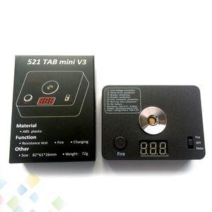 521 TAB mini V3 Ohm Meter Resistenza digitale Ohm Tester Fire USB ricarica strumento bobine fai da te per RDA RTA atomizzatore riscaldamento Wire Table