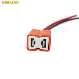 FEELDO 10 UNIDS Auto Car Ceramic H7 Socket H7 portalámparas H7 Connector # 5466