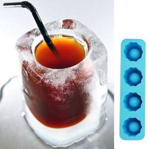 Bac à glaçons moule en verre Shot Shots moule à glaces nouveauté cadeaux Bac à glaçons été potable outil moule en verre D0093