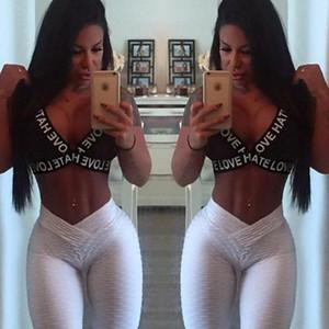 Womens Sexy Fitness Ioga Slim Hips Leggings Para Mujer Nueva Moda Jacquard Beauty Jogger Gymnasium Elástico Skinny Pants