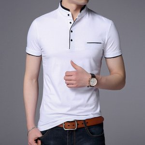 Collar Short Sleeve Tee Shirt Men 2018 Spring Summer New Top Men Clothing Slim Fit Cotton T-Shirts
