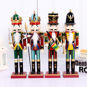 Christmas wooden home decoration 30cm Nutcracker Puppet Soldiers for Christmas Creative Ornaments and Feative Party Christmas gift