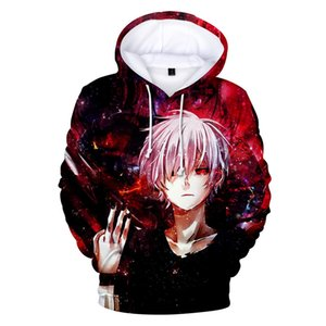 2018 Anime Felpe Uomini Tokyo Ghoul 3D Stampa Felpe Divertenti Anime Hooides Streetwear Autunno Inverno Cool Felpe Plus Size 4XL