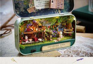 Doll Houses Countryside Notes 3D Wooden DIY Handmade Box Theatre Dollhouse Miniature Box Cute Mini Doll House Assemble Kits Gift Toys