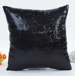 Fashion Fresh Hot Selling Solid Color Glitter Sequins Throw Pillow Case Cafe Home Style Warm Comfortable