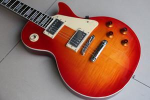 Ücretsiz kargo! Yeni Varış 1958 Elektro Gitar LP Gitar Standart Kalite Kiraz Sunburst 111210 yılında Üst