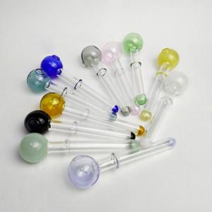 Colorato Pyrex Oil Burner tubi Maniglia tubo pipe bulbo di vetro fumo olio combustibile tubo di vetro tubo IN AZIONE