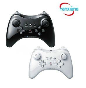 10 stücke Wireless Classic Pro Controller Gamepad mit USB Kabel Für Nintendo Wii U Pro Schwarz / Weiß YX-wiiupro