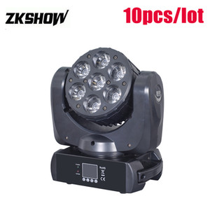 Mini Projector 7*12W RGBW Cree LED Beam Wash Moving Head 260W DMX512 DJ Disco Party Wedding Stage Lightings Projector 230V Free Shipping