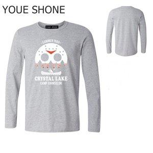 Crystal Lake harajuku Tops Long Sleeve T-shirt Jason freddy Pure cotton Tshirt mens Texas chainsaw The Massacre Machine Tee pullover