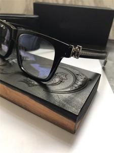 Nova safra de óculos óculos de design CHR prescrição steampunk homens quadrados estilo de moldura lente transparente óculos de proteção clara