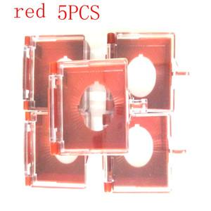 22mm دفع زر التبديل الغطاء الواقي لمنع misoperation الغطاء الواقي مستطيلة يمكن أن تحول أحمر جولة زر التبديل البلاستيك