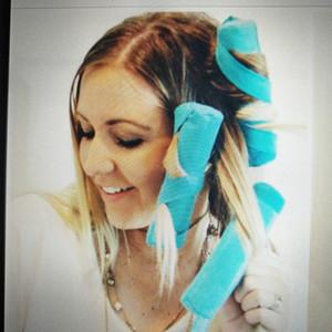 헤어 롤러 수면 Styler 키트 롱 코튼 Curlers DIY 스타일링 도구 블루 컬러 매직 헤어 드레싱 Charming Hairstyle 8Pc / set HHA36