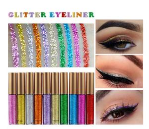 HANDAIYAN Glitter Liquid Eyeliner 10 Colors Metallic Shine Eye Shadow Eye Liner Maquillaje