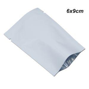 6x9cm White Heat tenuta vuoto alimentari mylar alimentari valvole Borse Imballaggio di frutta secca Fiore di alluminio guarnizione termica imballaggio Sacchetti