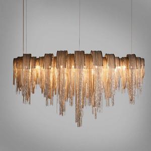 Nordic post-moderno di lusso arte della luce E27 nappa lampadario villa ingegneria albergo duplex costruzione vivono lampadari di catene di camera