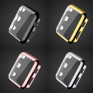Luxo Blowout Prevenção de ouro 18K Assista caso capa protetora de habitação para Apple Watch iWatch Series 42 milímetros G1 38 milímetros Série 3 2