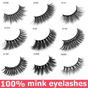 Faux cils 3D maquillage des yeux Extension 100% vrai vison naturel épais faux cils faux cils maquillage 3 paires / boîte dropshipping