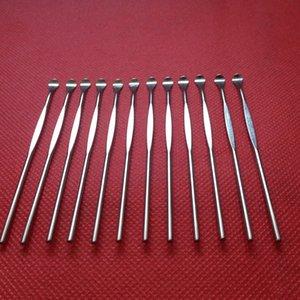 Dabber ferramenta de cera de metal colher de pau de titânio colher de cera Ferramentas Dab Ear Pick Tool Para Erva Seca Vaporizador Vapor De Ervas