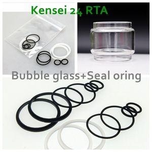 per Vandyvape Kensei 24 tubo di vetro a bolle di ricambio RTA + accessorio guarnizione siliconata di tenuta guarnizione siliconica